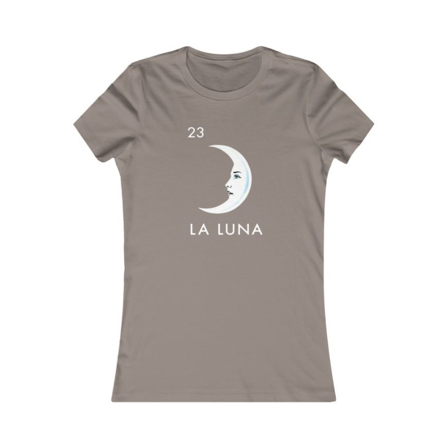 La Luna Moon Mexican Loteria Graphic Tee - Pebble Brown