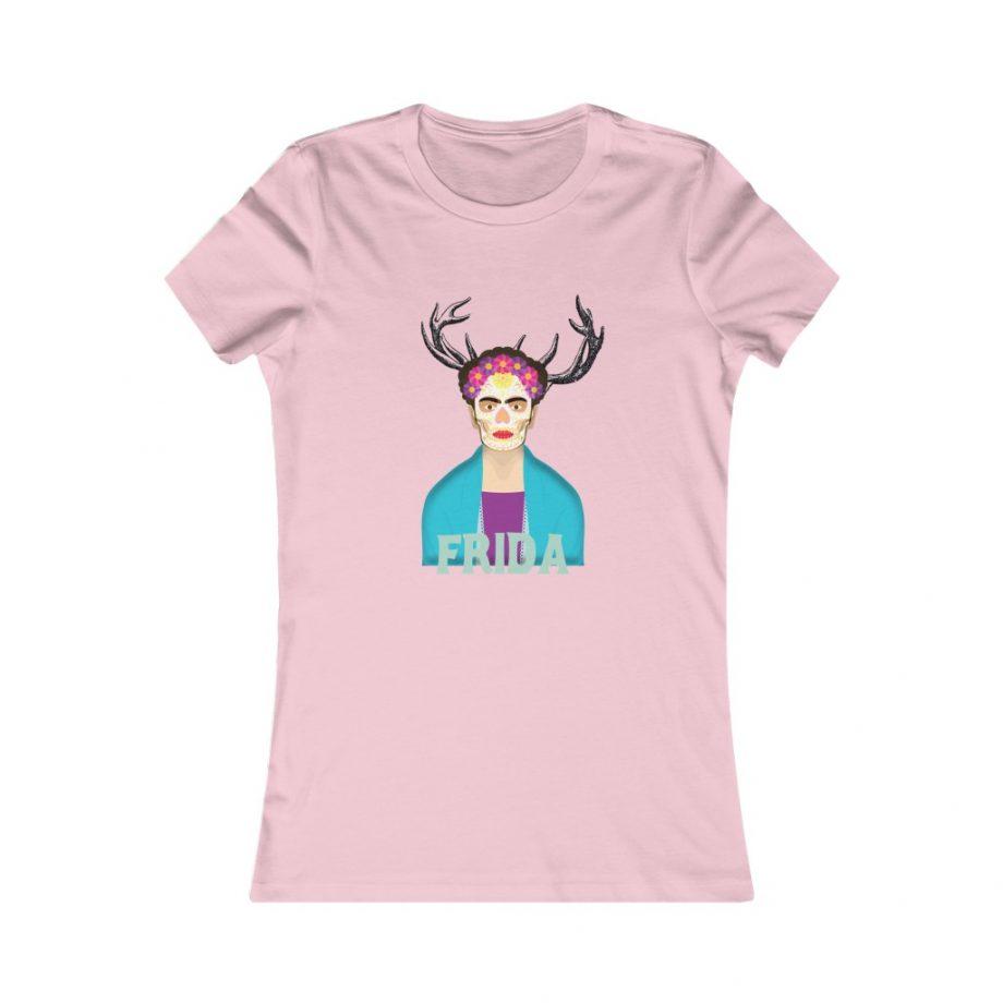Frida Surreal Women's Graphic Tee - Pink