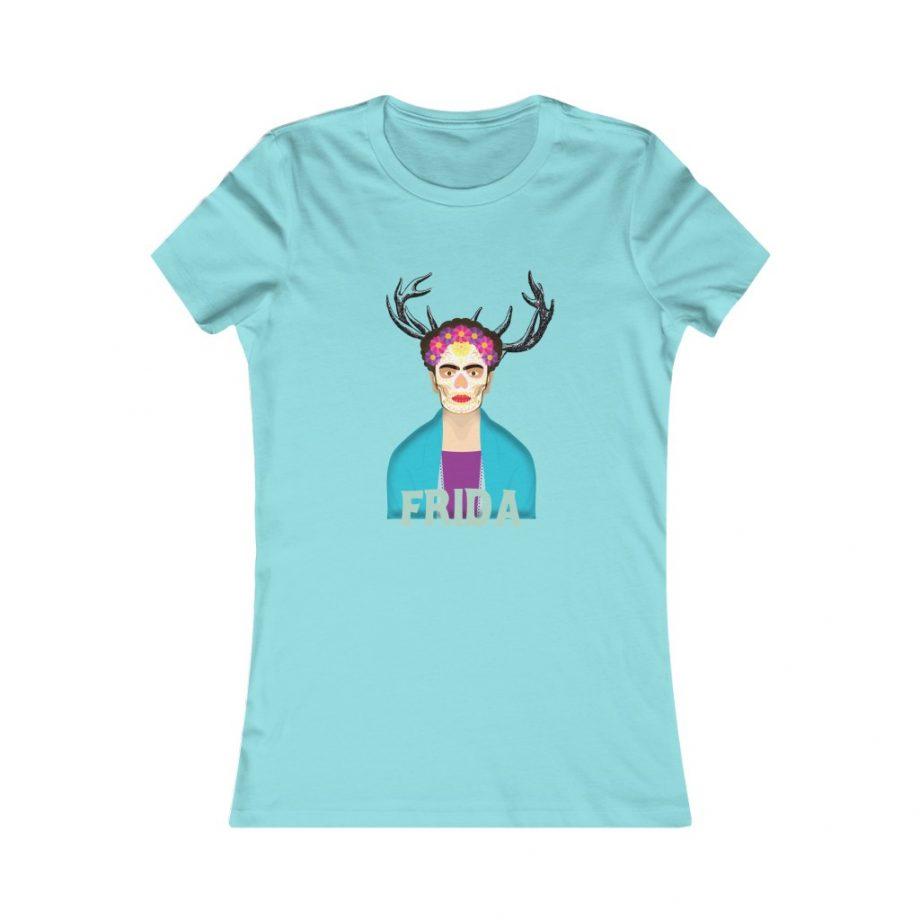 Frida Surreal Women's Graphic Tee - Seafoam Blue