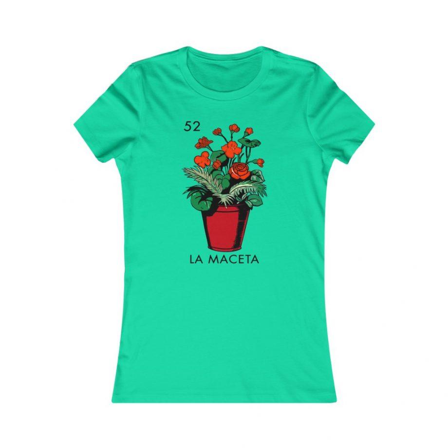 La Maceta Mexican Loteria Graphic Tee - Teal