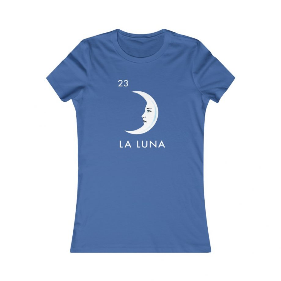La Luna Moon Mexican Loteria Graphic Tee - True Royal