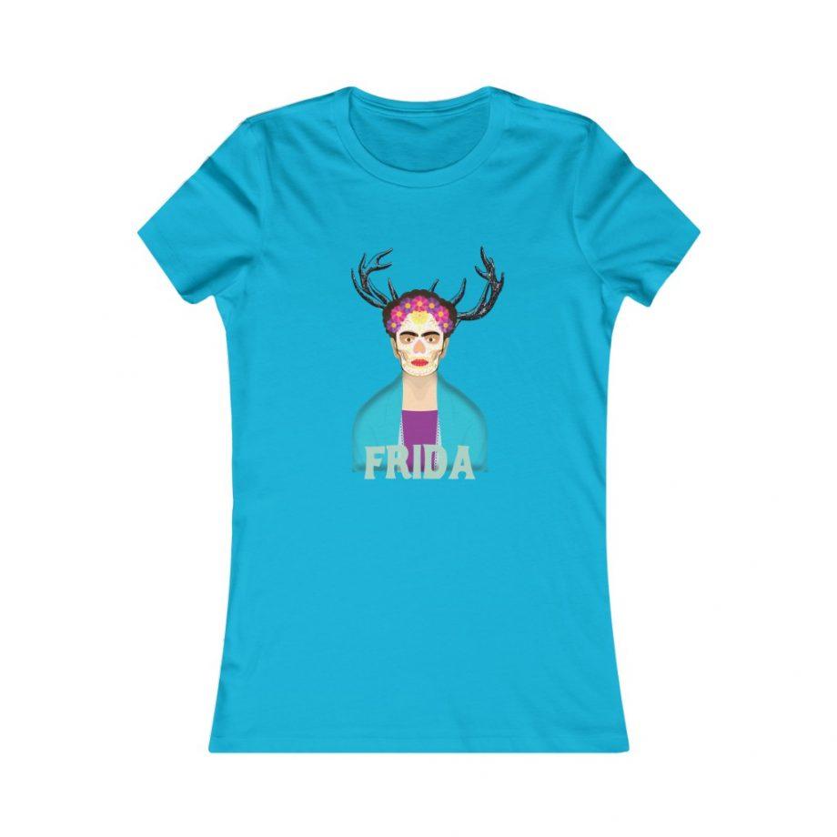 Frida Surreal Women's Graphic Tee - Turquoise