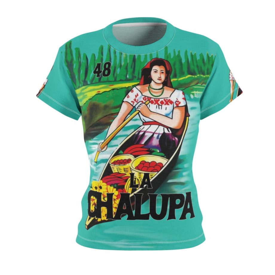 La Chalupa Loteria All Over Print Vintage Women's T-Shirt - Front Design