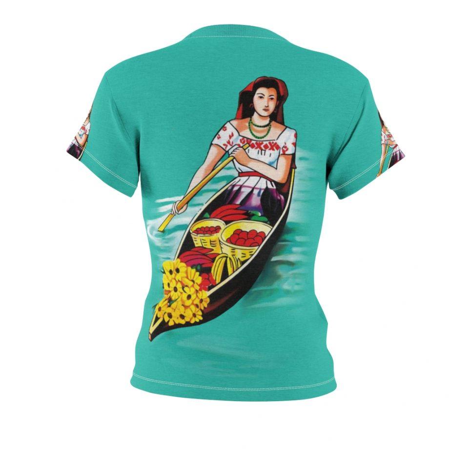 La Chalupa Loteria All Over Print Vintage Women's T-Shirt - Back Design