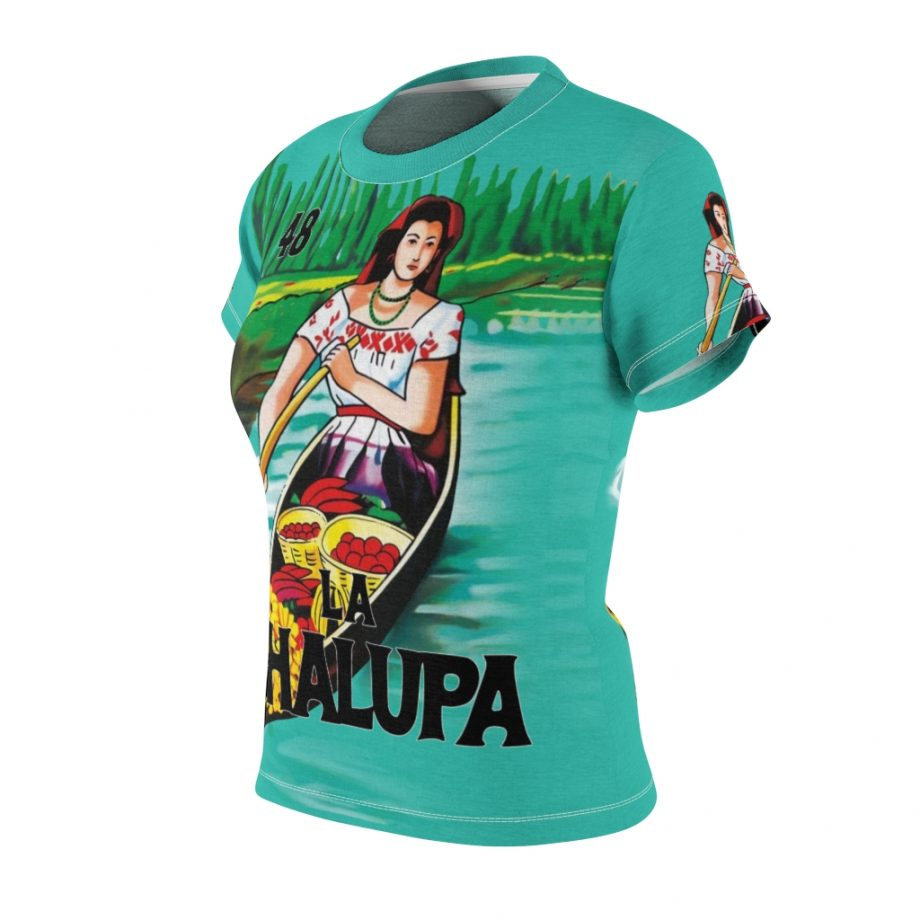 La Chalupa Loteria All Over Print Vintage Women's T-Shirt - Front Left Sleeve
