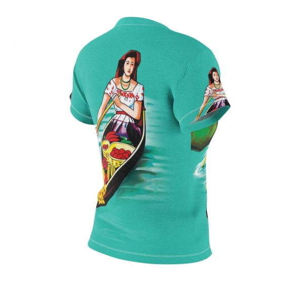 La Chalupa Loteria All Over Print Vintage Women's T-Shirt - Back Right Sleeve