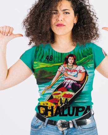 La Chalupa Loteria All Over Print Vintage Women's Graphic Tee