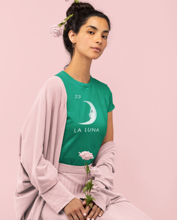La Luna Vintage Mexican Loteria Cotton Women's T-Shirt