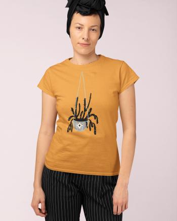 Hanging Cactus Mid-Century Modern Women's Cotton T-Shirt