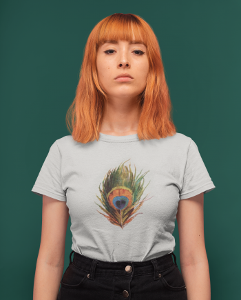 Peacock Feather Boho Women's T-Shirt
