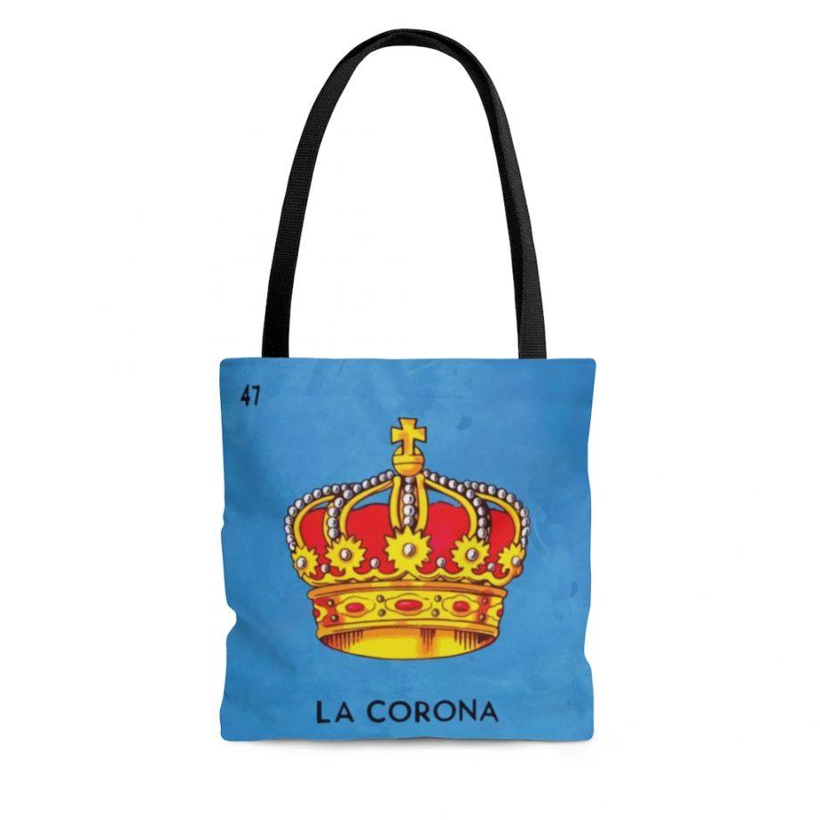 Vintage Art Tote Bag - La Corona Loteria Mexicana